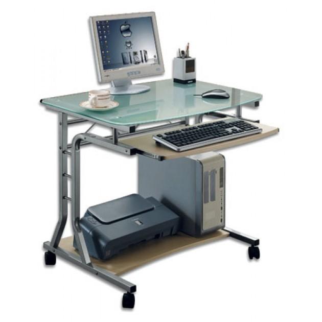 RYSB Scrivania con Contenitore,Computer Scrivania Casa Ufficio Compatta Robusta Workstation Tavolo,Mobili Moderni Scrivania Semplice